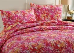 DaDa Bedding Lovely Harvest Starburst Pop of Colorful Pink R
