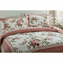 Dainty Bohemian Cottage Quilted Bedspread Set by DaDa Beddin
