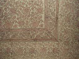 "Daisy Chain Block Print Tapestry Cotton Spread 106"" x 72"" Tw"