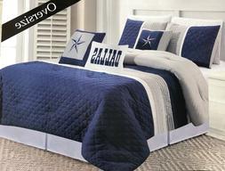 Dallas Cowboys Western Star Design Quilt BedSpread Comforter