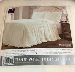 Lush Decor Décor Riviera Ruffle Skirt Bedspread WHITE Shabb