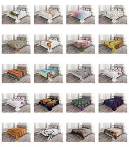 Ambesonne Decorative Coverlet Bedspread Quilted Bed Cover Se