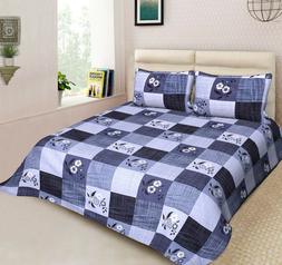 Handmade Designer King Size Bedspread  With Pillow Cover