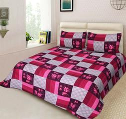 Handmade Designer King Size Bedspread  With Two Pillow Cover