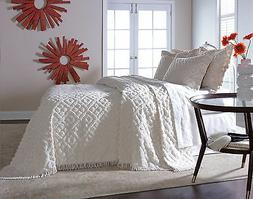 DIAMOND TUFTED CHENILLE BEDSPREAD AND PILLOW SHAM SET, ALL C
