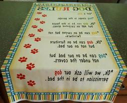 Dog Wisdom Panel 23x42 Jo Moulton Wilmington Dog Bed Rules
