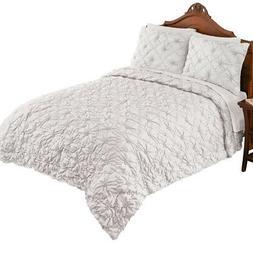 Elegant Madison Pintuck Quilted Textured Bedspread - Decorat