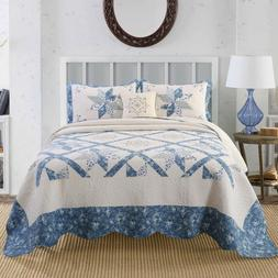 Kasentex Hotel Luxury Quilt Bedspread 100% Soft Cotton.Cozy,