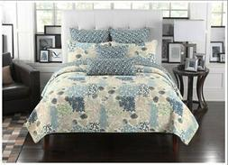Fancy Linen 3pc King Size Quilted Bedspread Coverlet Set Flo