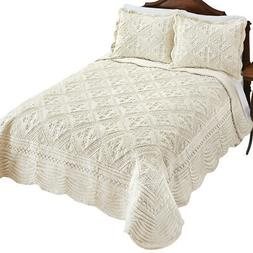 Faux Fur Quilt with Intricate Diamond Pattern