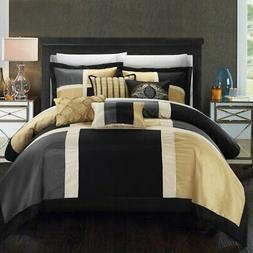 Filomena Black King 7 Piece Comforter Set by Chic Home