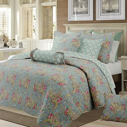 Floral Paisley Reversible Cotton Quilt Set, Bedspreads, Cove