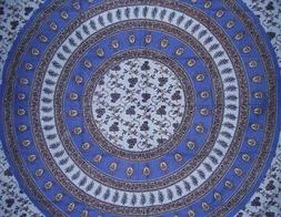 """Floral Vine Tapestry Cotton Bedspread 108"""" x 88"""" Full-Queen"""