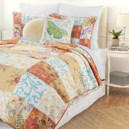 Francesca Patchwork 3 Pc Quilt Set, Queen or King,Quilted Be