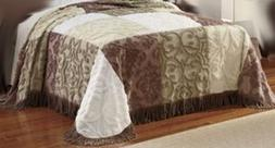 Full Size Patchwork Chenille Bedspread -- NWT
