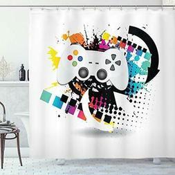 Lunarable Gamer Shower Curtain by, Modern