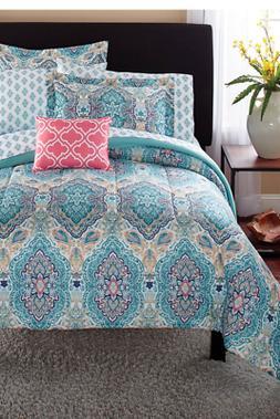 Girl's 8 Piece Paisley Full Size Comforter Set Modern Beddin