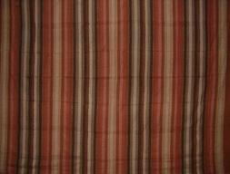 "Handloom Striped Cotton Spread 98"" x 86"" Full Brown"