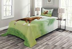 horse bedspread running chestnut horses mare
