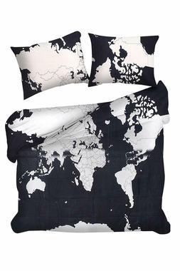Indian Bedding Bedspread Set Queen Size Mandala World Map Du