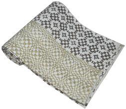 Indian Cotton Kantha Quilt Throw Blanket Bedspread Hanmade V