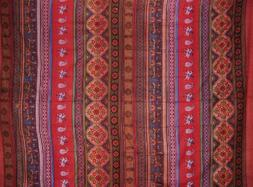 Indian Print Tapestry Cotton Bedspread 106 x 88 Full-Queen R