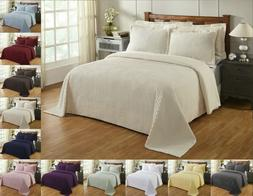 Better Trends Julian 100% Cotton Tufted Chenille Bedspread A