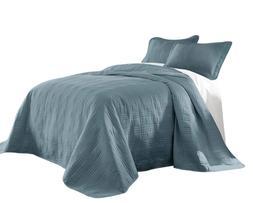 kingston 3 piece oversized bedspread coverlet set