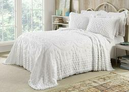 kingston tufted floral chenille bedspread all cotton