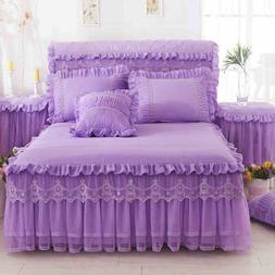korea lace ruffle font b bedspread b