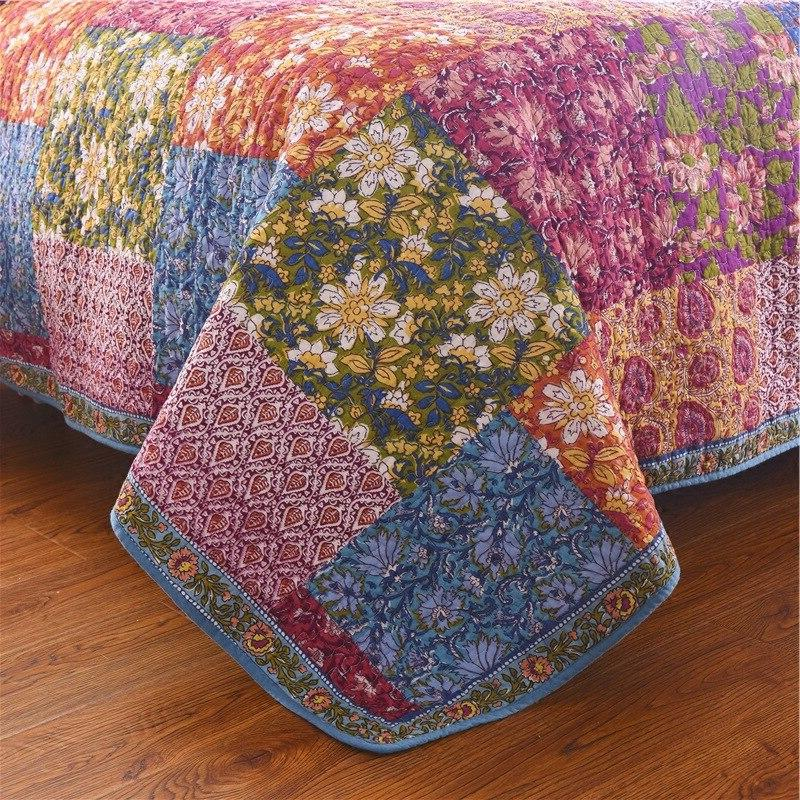 FAMVOTAR Quilted 3-Pieces Blooming Prairie Quilt