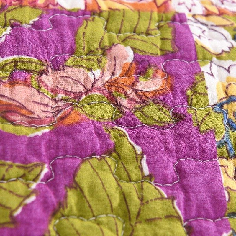 FAMVOTAR Quilted <font><b>Bedspread</b></font> Antique Blooming Prairie Queen Quilt <font><b>Set</b></font>