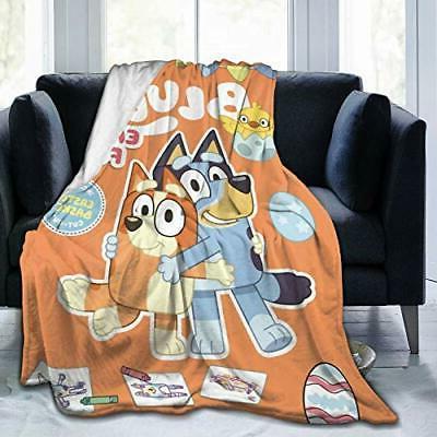 2020-Bluey Soft Decorative Bedspread Throw Blanket