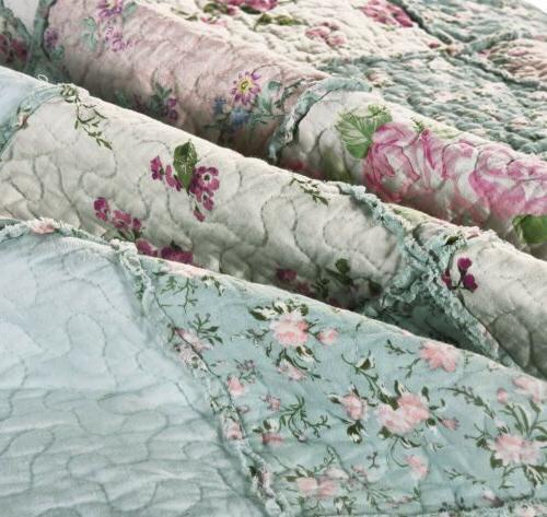 3-Piece Vintage Washed Bedspread Set