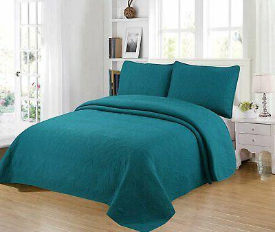Home Bedding 3-Piece Full/Queen/King Oversize Bedspread Set.