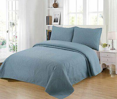 Home Bedding 3-Piece Oversize Coverlet Set.