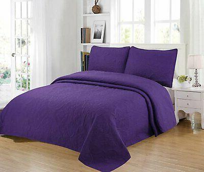 3 piece full queen king oversize bedspread