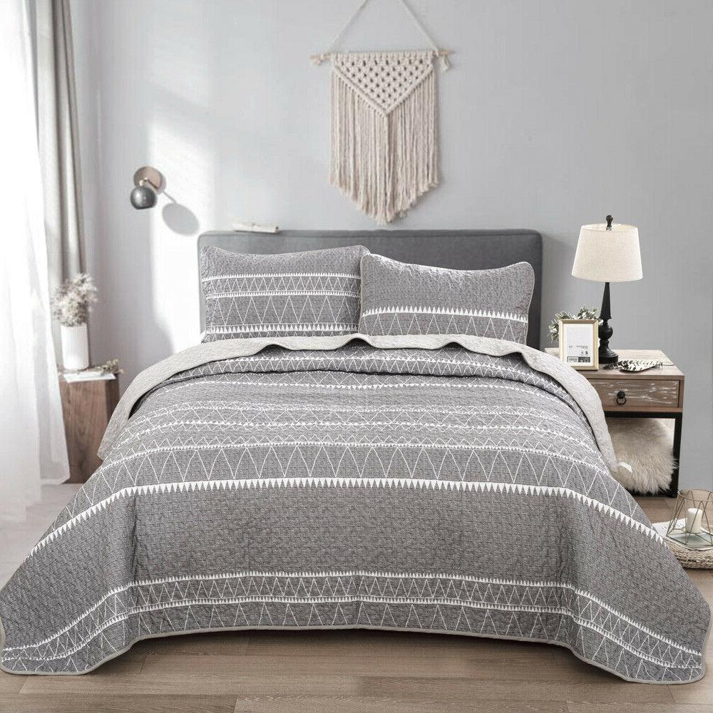 3Pieces Bedspread Set Oversized Queen King