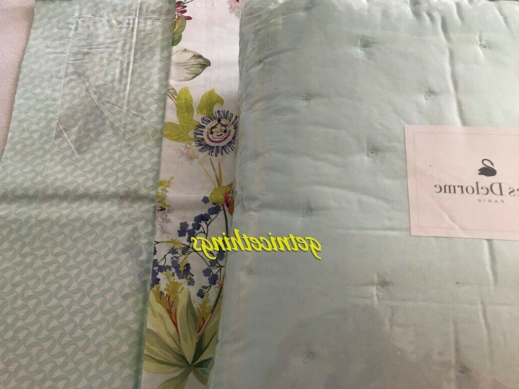 $670 Delorme Triomphe Glace Blue F/Q Quilted Cotton Sateen