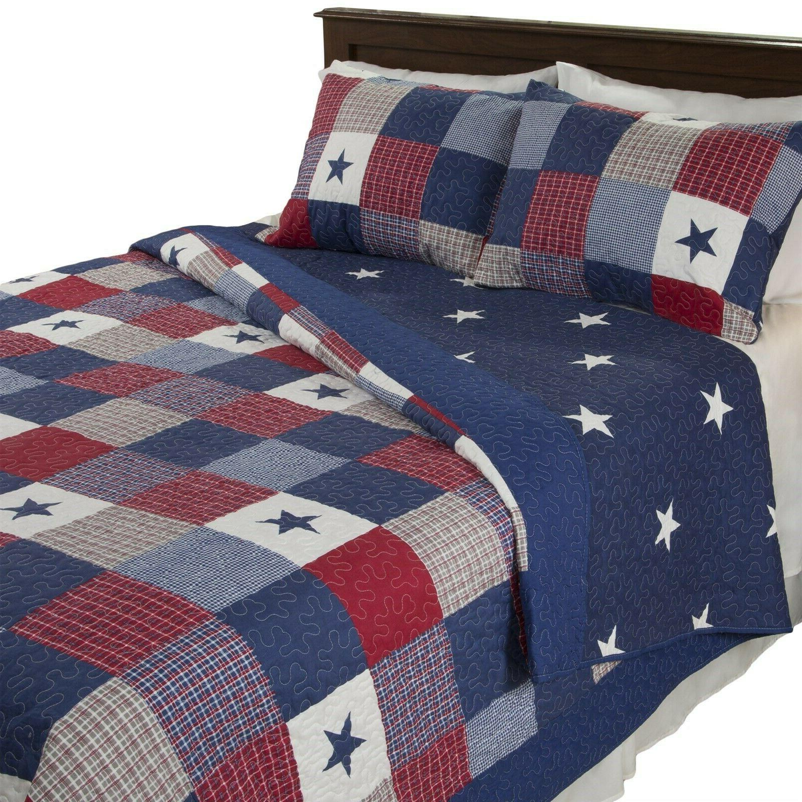 all american quilted blanket red white blue