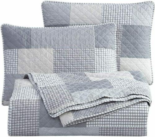 Anderson Plaid Bedspread Coverlet Set Quilt Set