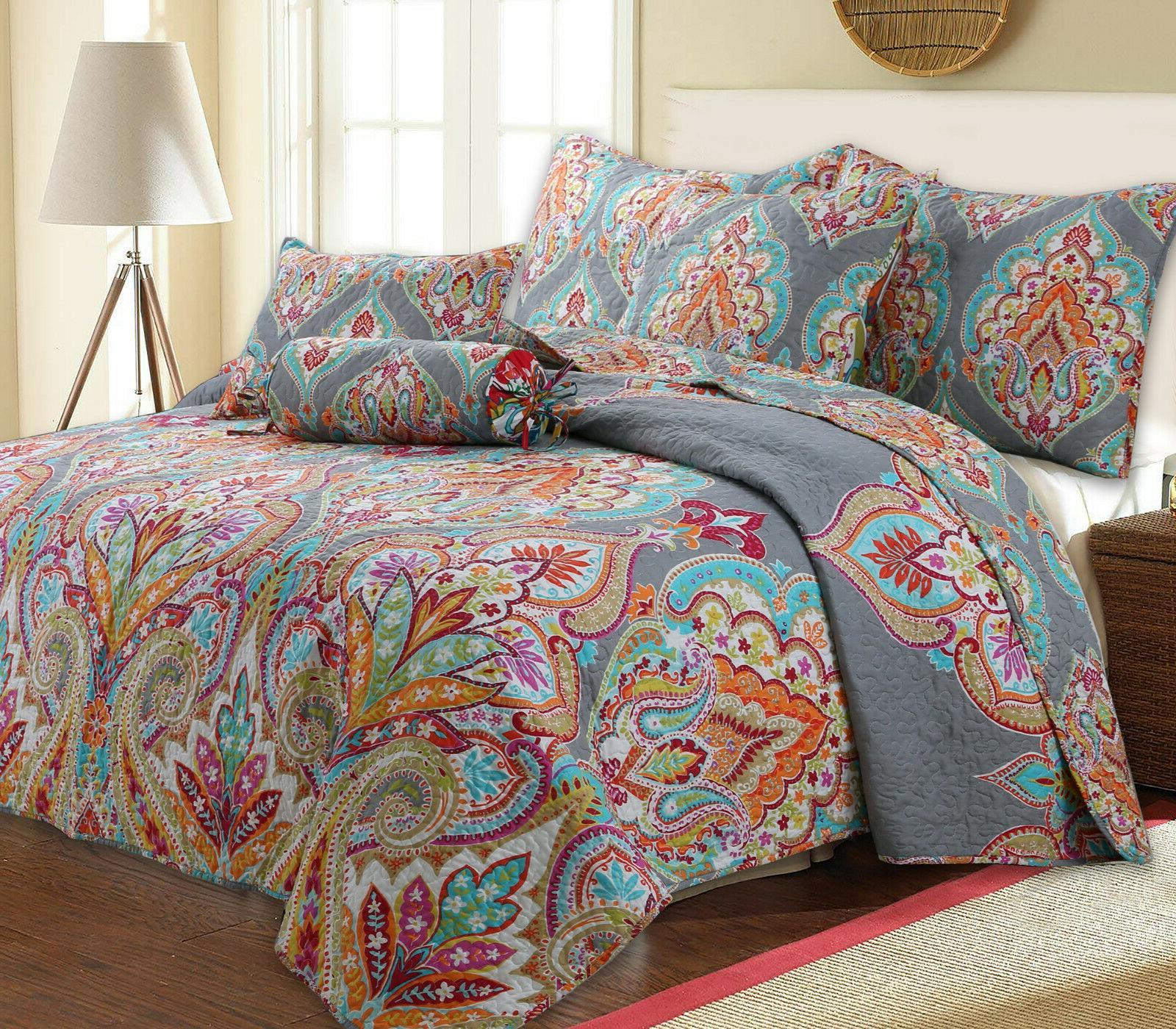 annalise 3 piece reversible quilt set bedspread