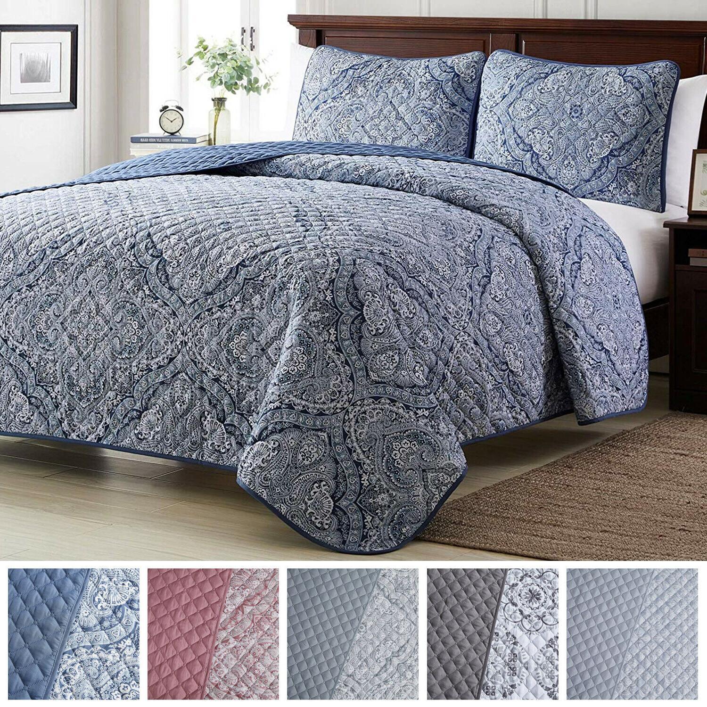 bedspread coverlet set 3 piece medallion quilt