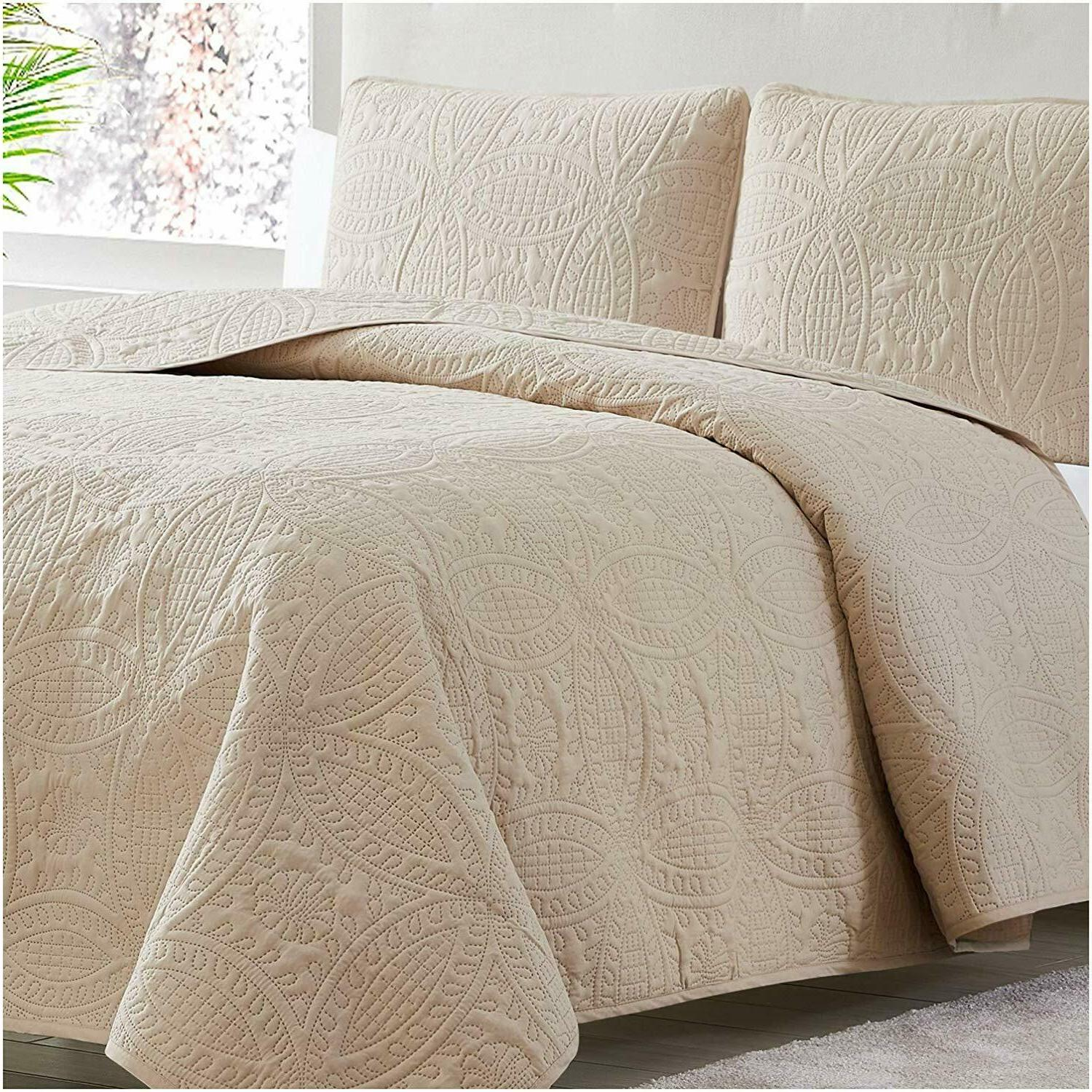 Mellanni Coverlet Set 3-Piece Bed Cover, Ultrasonic