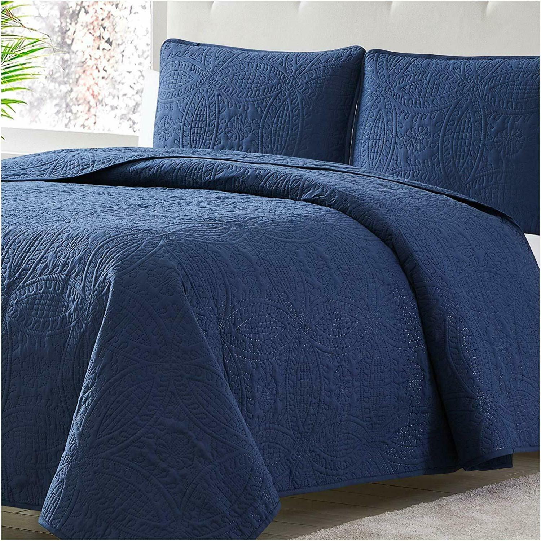 Mellanni Bedspread Coverlet 3-Piece Oversized Ultrasonic Quilt