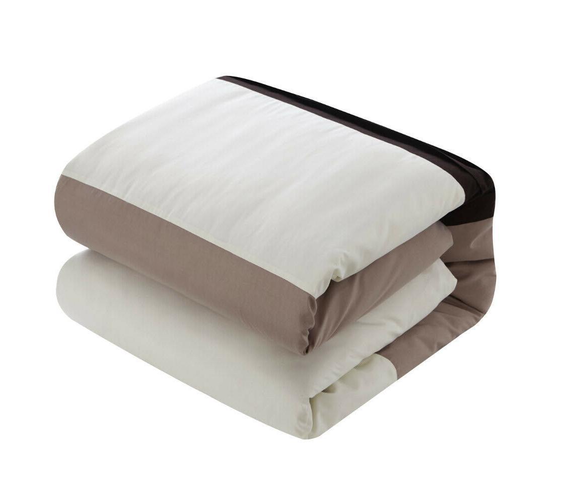 BEIGE COMFORTER SET Bed in Bedding Multiple Sizes
