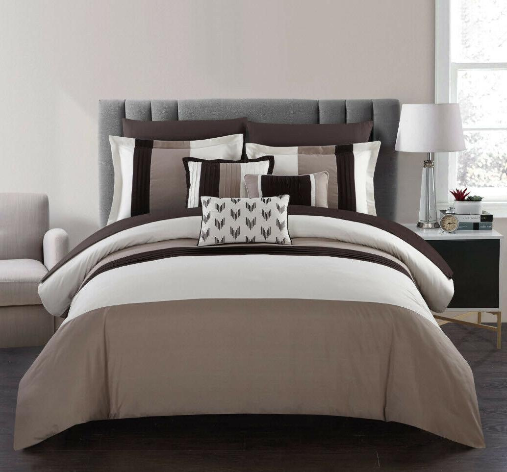 beige comforter set bed in a bag