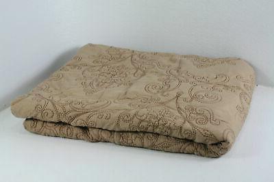 Home Soft Things BNFBDSQDAMIN Serenta Damask 4 Piece Bedspread