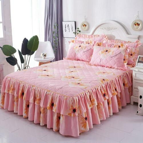 Brushed Queen Ruffled Bed King Quilted