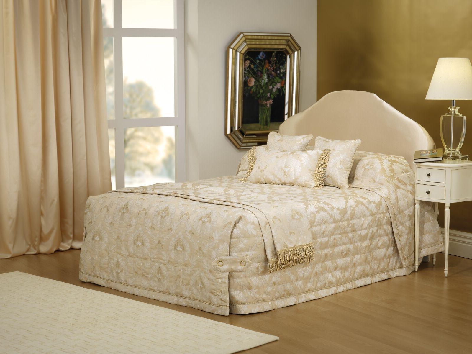 Bianca Buckingham Gold Bedspread Set in All Sizes